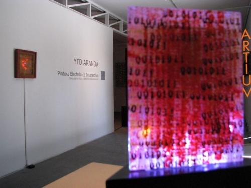 Exposición Artium 2011: YTO ARANDA, PINTURA ELECTRÓNICA INTERACTIVA Electrónica experimental y computación física